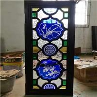 彩色滿州窗玻璃廠家直銷