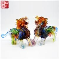 琉璃貔貅擺件 家居辦公風水擺件 廣州琉璃貔貅禮品