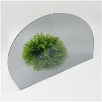 椭形欧洲灰面板钢化玻璃 一体黑显示屏加工