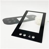 椭圆形丝印玻璃 2.0高清人脸识别可防眩AG处理扫码玻璃