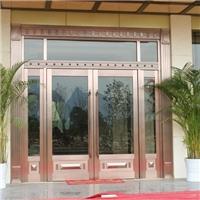 仿铜双开玻璃门 商场办公楼专项使用仿铜玻璃门