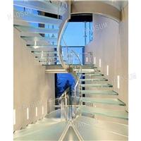 玻璃旋轉樓梯 LED燈發光旋轉樓梯 廣東廠家定做