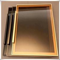 衣柜門用透明茶色玻璃茶玻原片現貨支持改裁茶玻