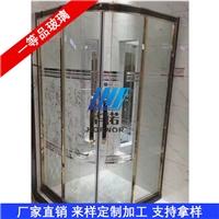深加工異形淋浴房 淋浴房夾絲玻璃 定做淋浴房玻璃