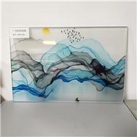 广州同民夹山水画玻璃 夹抽象画玻璃