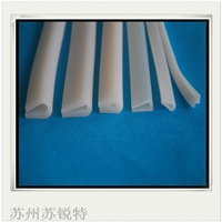 白色硅胶U型密实耐磨损密封条
