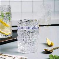 树皮纹玻璃口杯北欧创意玻璃杯牛奶果汁杯