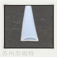 白色硅胶D型空心防尘密封条