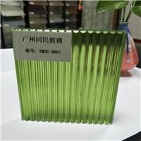 廣州瓦楞玻璃綠色坑紋玻璃璃同民廠家生產