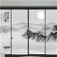 中国风玻璃移门打印机