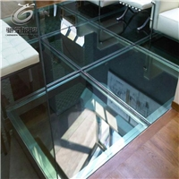 栈道钢化玻璃 防滑玻璃价格