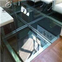 厂家供应八字纹防滑纹路夹胶钢化玻璃地砖
