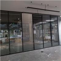 深圳南山办公室装修玻璃百叶高隔断 价格