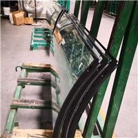 6+12A+6弯钢双银low-e中空钢化玻璃价格