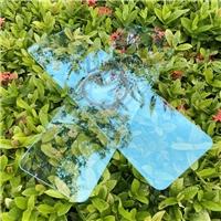 浅蓝色测控溅射双面AR玻璃 浅蓝色镀膜化学ar玻璃