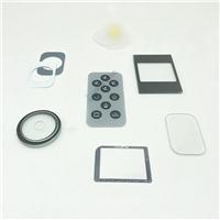 天空灰丝印钢化玻璃触控面板