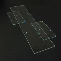 持久耐用材質長條鋼化玻璃 密集鉆孔通孔鋼化玻璃