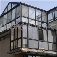 揚州玻璃門窗陽光房玻璃雨棚定制安裝