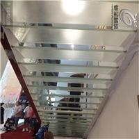 厂家定制踏步夹层防滑纹路钢化玻璃