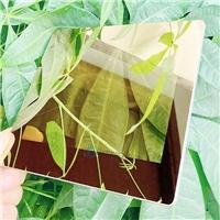 0.8mm金色鏡面玻璃 顯示屏鏡面玻璃 鋼化鍍膜玻璃定制