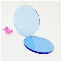 供應有色光學玻璃 耐高溫圓形鋼化玻璃
