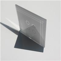 絲印面板玻璃  絲印打孔超白鋼化玻璃  可按圖定制加工