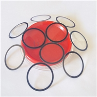 帶膠黑邊絲印玻璃 圓形鋼化絲印玻璃 1MM鋼化絲印玻璃